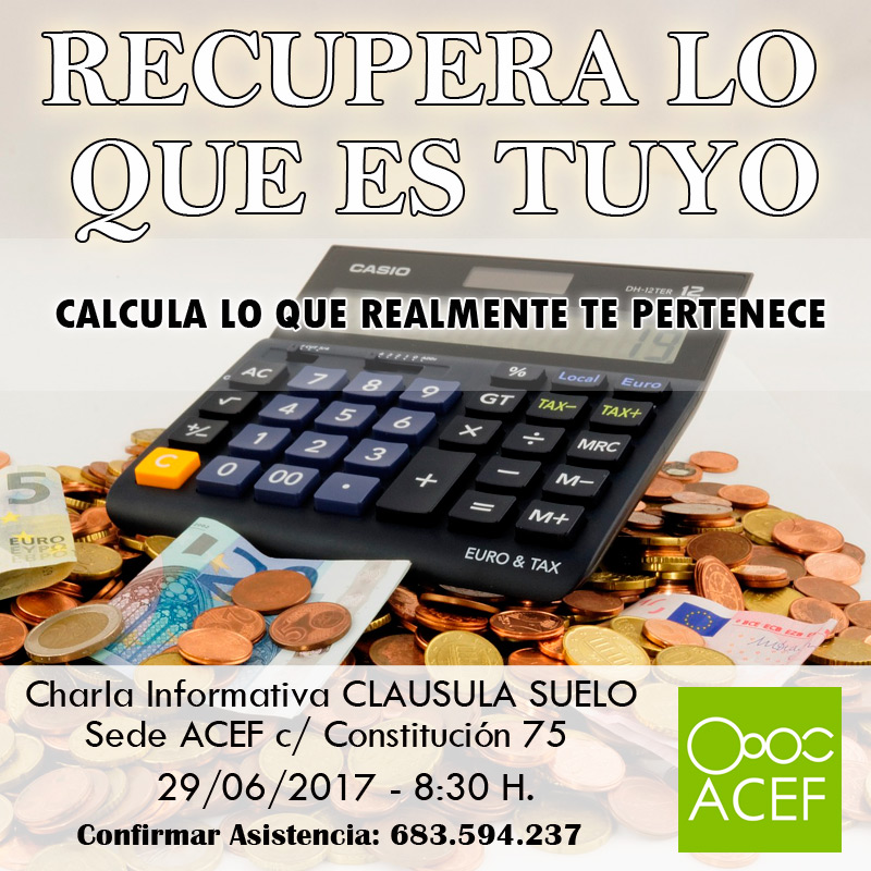 Charla Reclamar Clausula Suelo ACEF Fuenlabrada Security And Clarity