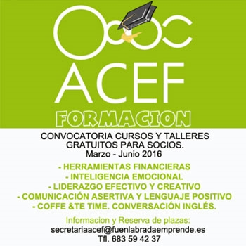Imagen de la categoría ACEF. Cursos gratuitos marzo-junio 2016