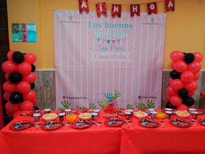 Decoracion Cumpleaños LadyBug Local Palmas Palmitas Fuenlabrada