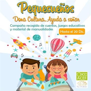 Imagen de la categoría Pequesueños, Dona Cultura Ayuda a Soñar